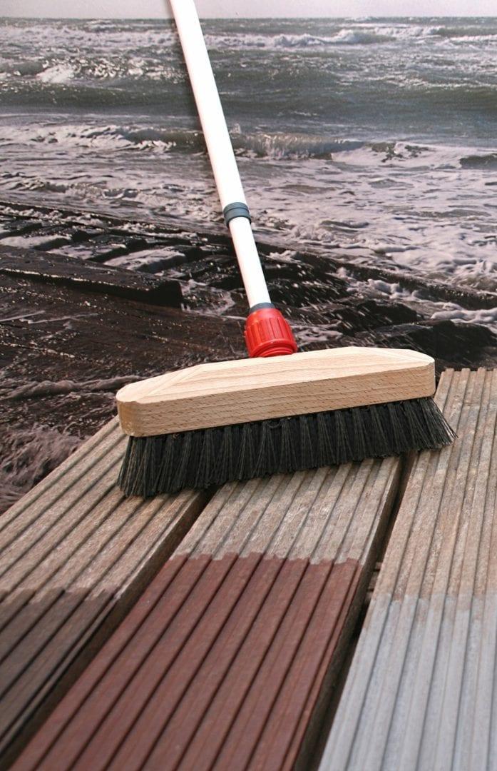 buitenhout reinigen en beschermen